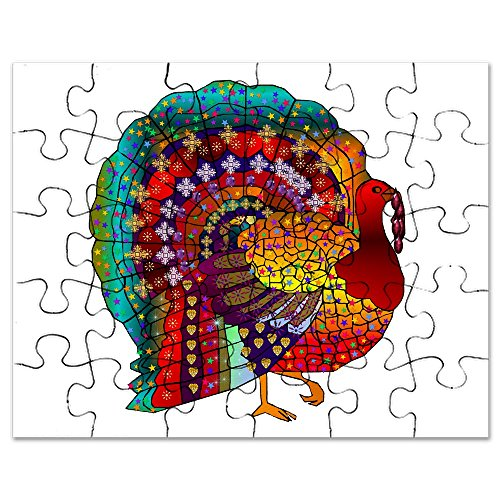 CafePress - Thanksgiving Jeweled Turkey - Jigsaw Puzzle, 30 pcs.