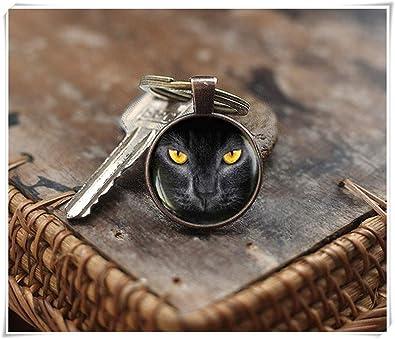 We Are Forever - Llavero para Gato Negro con Ojo Amarillo de ...