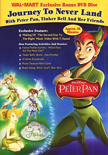 Journey To Never Land With Peter Pan, Tinker Bell And Her Friends (Walmart Exclusive Bonus DVD Disc)