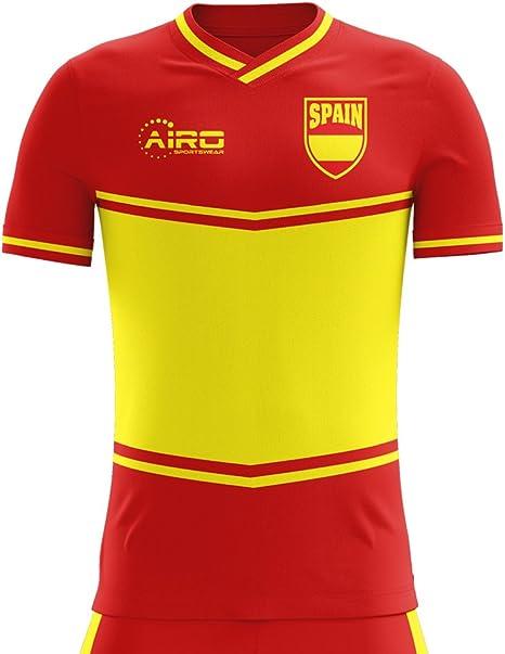 Airosportswear 2018-2019 - Camiseta de fútbol para niños (diseño de la Bandera de España), Infantil, Rojo, 5Años (104-110 cm): Amazon.es: Deportes y aire libre