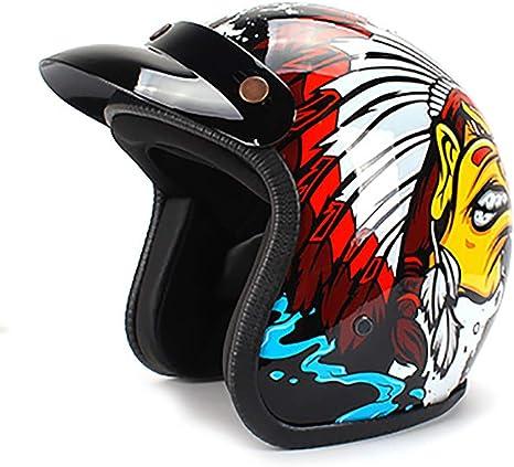 LALEO Estilo Deportivo Personalidad Vintage Harley Casco