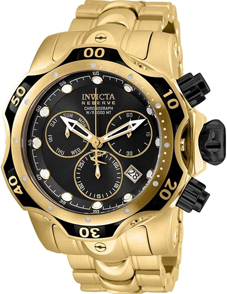 25979 INVICTA Venom Men 53.7mm Stainless Steel Rose Gold + Stainless Steel Rose Gold+Blue dial Z60 Quartz