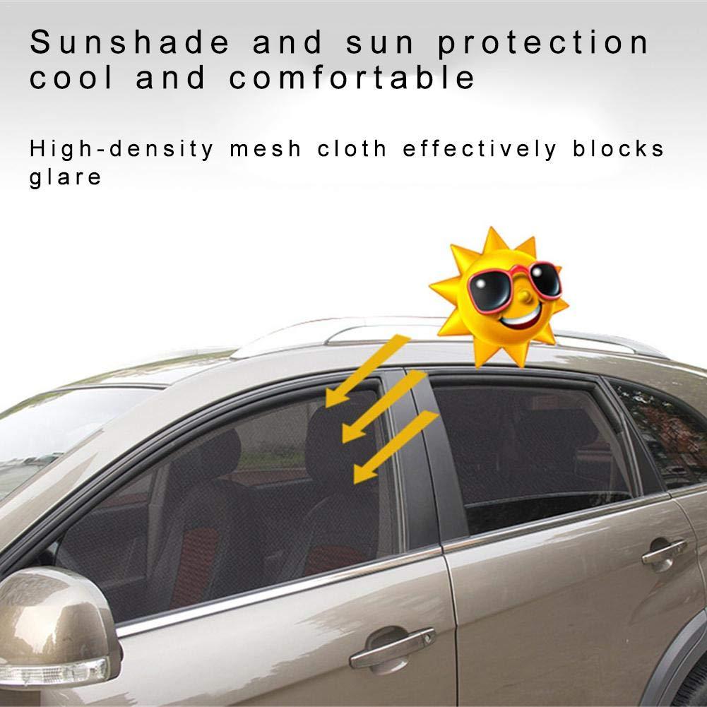 Pare-Soleil Maill/é avec Fen/être Lat/érale De Protection UV Katurn Rideau Pare Soleil Pare-Soleil Magn/étique pour Rideau De Voiture /Épaissi