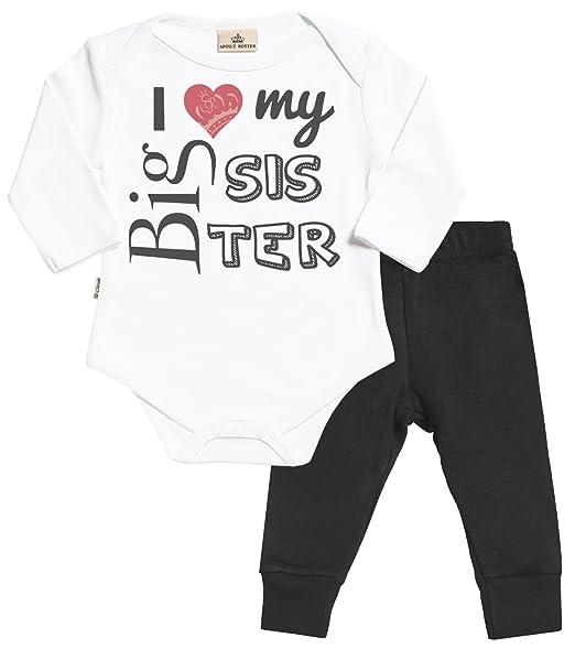 Amazon.com: SR – I Love My Big Sister Baby juego – Babygrow ...