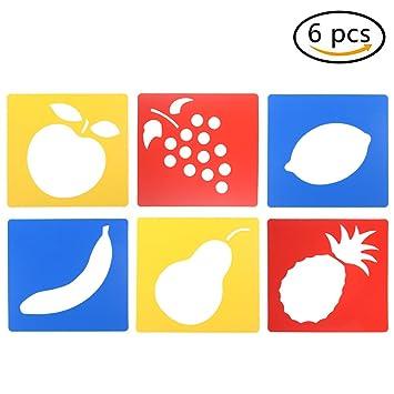 Kunststoff Zeichnen Malen Schablone Fruit Waschbar Vorlage