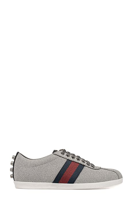 Gucci - Zapatillas para Mujer Plateado Plata IT - Marke Größe, Color Plateado, Talla 36.5 IT - Marke Größe 36.5: Amazon.es: Zapatos y complementos