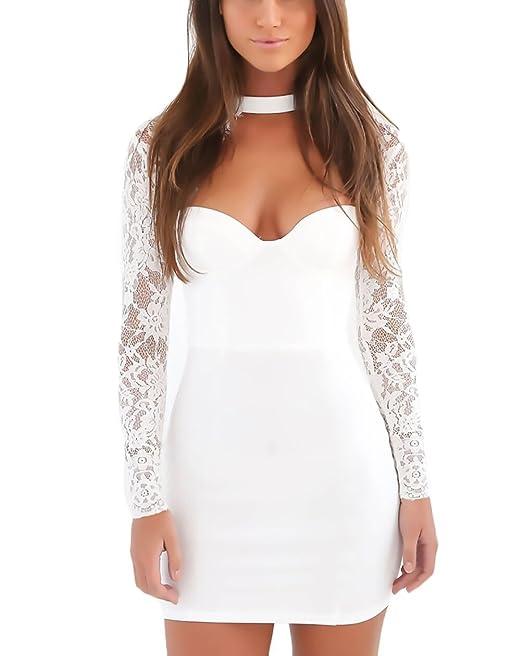 online store efb96 0984b Abiti Donna Eleganti Vestiti da Cerimonia Corti in Pizzo ...