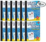Primary Journal, Hardcover, Primary Composition Book Notebook - Grades K-2, 100 Sheet, One Subject, 9.75' x 7.5', Blue Cover-12 Pack