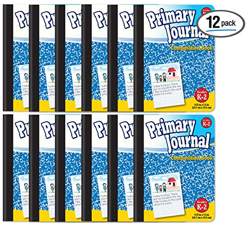 Better Office Products Primary Journal, Hardcover, Primary Composition Book Notebook - Grades K-2, 100 Sheet, One Subject, 9.75