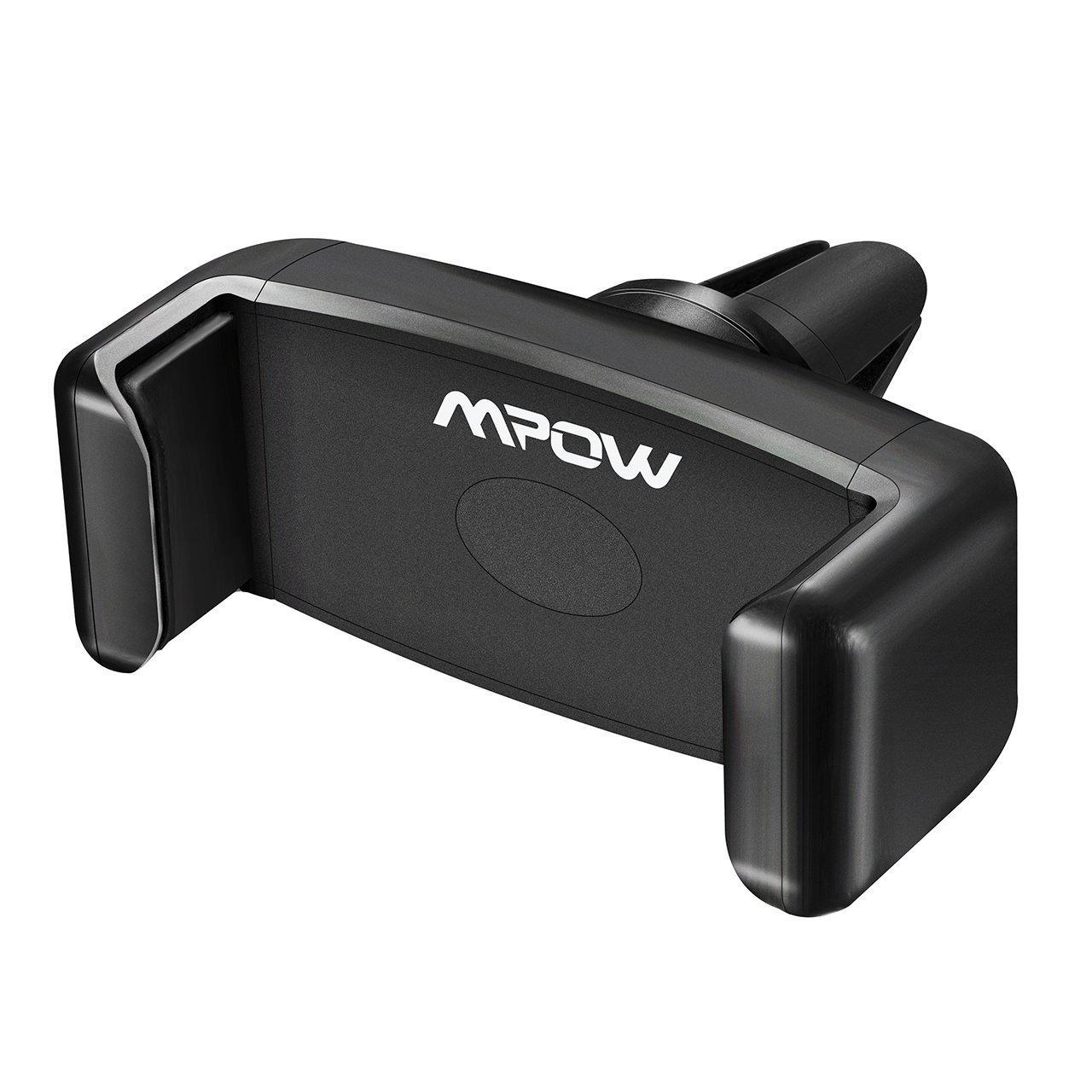 MPOW E-夹支持自动智能手机通用移动支架通风口空气,适用于iPhone 7 7 6加上加6s 5s 5c 4s,三星Galaxy Note 5 4 2 S6 S5 S4,索尼,华为P9,小米,黑莓和其他设备3,9英寸内的宽度