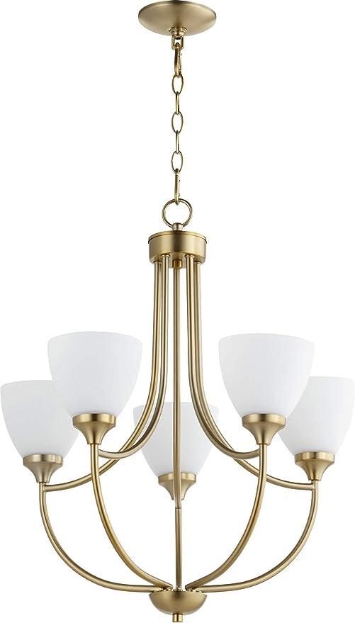 Amazon.com: quórum 5 Cinco Luz Lámpara de araña (6059 – 5-80 ...