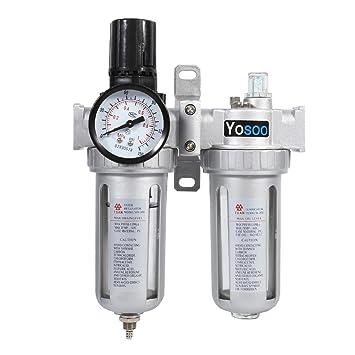 Unidad de Mantenimiento de Aire Comprimido Separador de Agua Reductor de Presión Regulador de Presión: Amazon.es: Bricolaje y herramientas