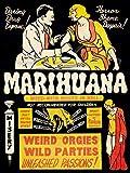 Wee Blue Coo Prints PROPAGANDA POLITICAL DRUG ABUSE MARIJUANA WEED WEIRD COOL POSTERPRINT