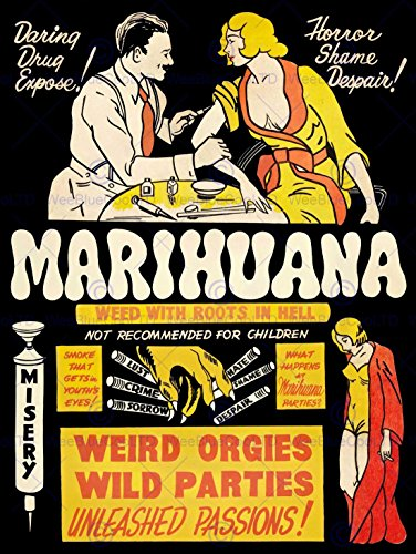 Wee Blue Coo Prints PROPAGANDA POLITICAL DRUG ABUSE MARIJUANA WEED WEIRD COOL POSTERPRINT