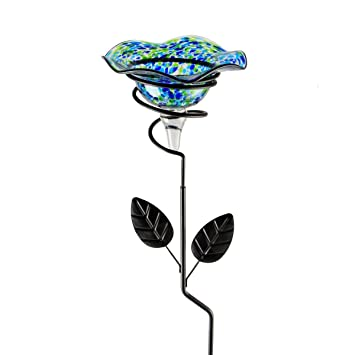 Whimsical Garden 92496 Garden Stake Butterfly Feeder, Small, Green/Black