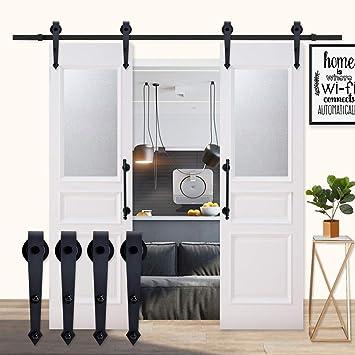 K-Home - Soporte de puerta corredera para dos puertas, estilo ...