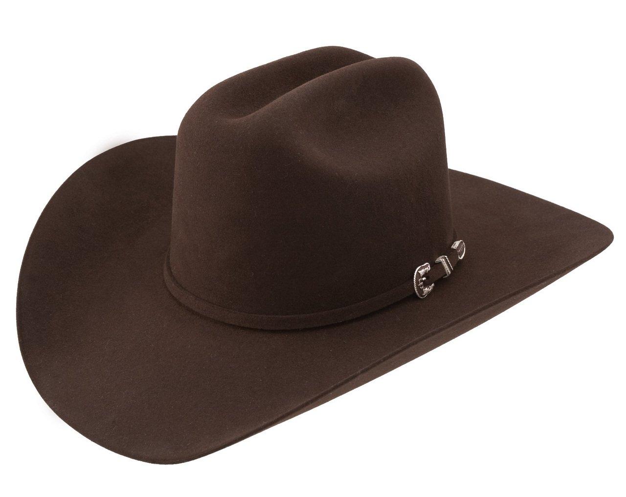 93575856aa05aa Stetson Men's 6X Skyline Fur Felt Western Hat Chocolate 7 1/2