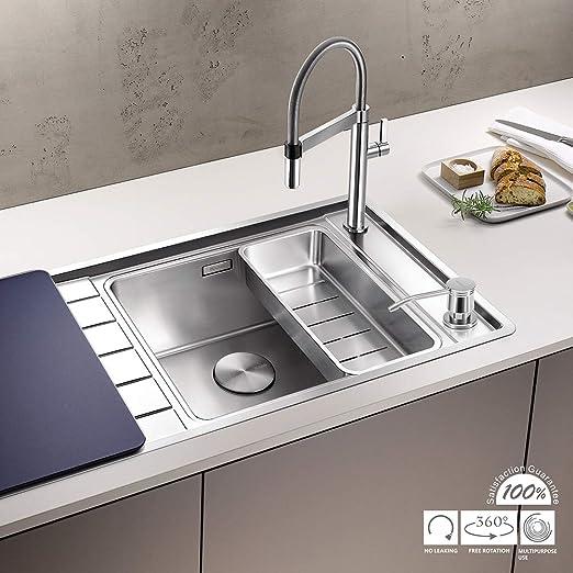 Varanid Dispenser For Kitchen Sink Built In Sink Soap Dispenser Complete Brass Spot Resist Stainless Built In Design For Counter Top With Pe Bottle Kitchen Bath Fixtures Tools Home Improvement Fcteutonia05 De