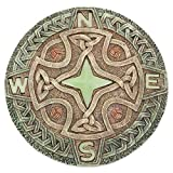 garden stepping stones Bits and Pieces - Celtic Compass Glow Garden Stone - Decorative Stone for Your Garden or Lawn - Beautiful Glow-in-The-Dark Stone Makes Great Garden Art - Garden Décor