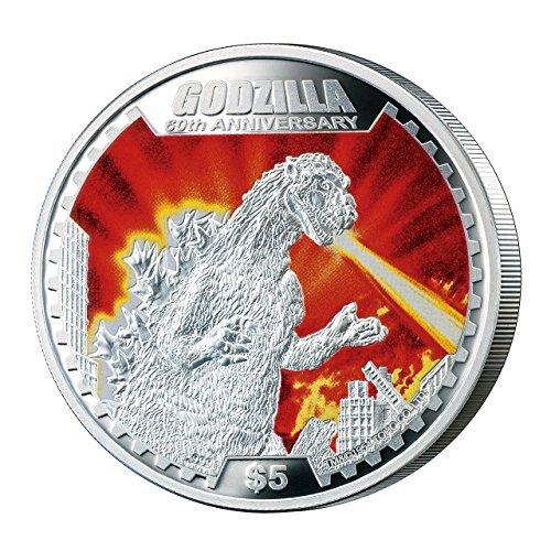 Price comparison product image Godzilla birth 60 anniversary of founder Godzilla 1 oz silver coin proof special Deluxe Figure Set