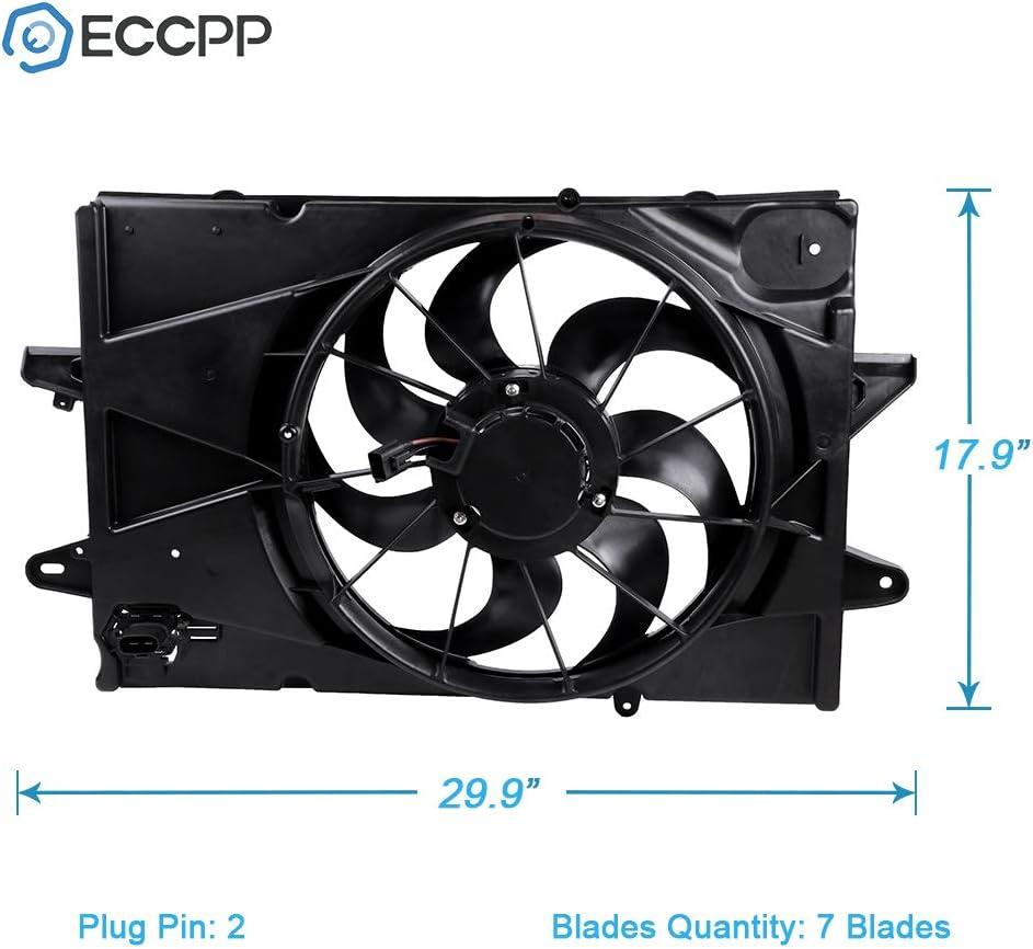 OEM NEW Engine Radiator Cooling Fan Assembly 18-19 Equinox Terrain 84448451