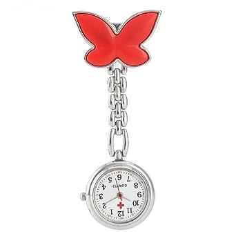 JACKY Butterfly Nurse Clip-on Fob Brooch Pendant Hanging Pocket Watch Fl8OSdg4s