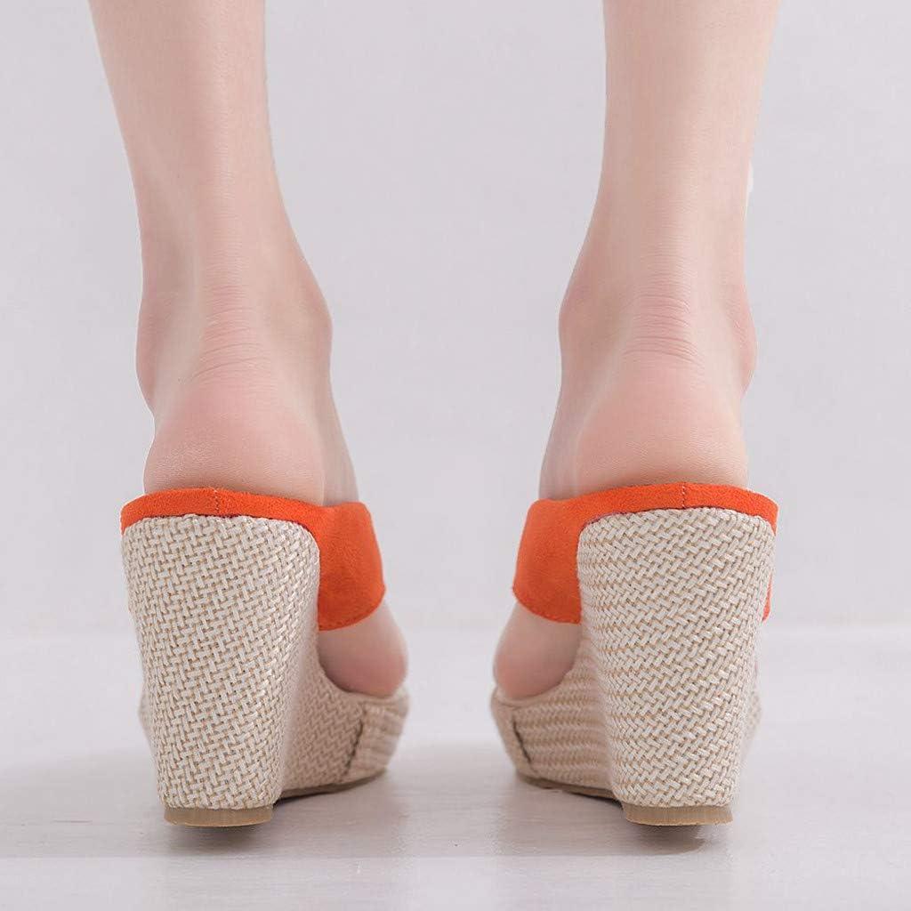 Longzjhd Sandales Plateforme Sandales Bride Cheville Femme Plage Chaussures Retourner Flops Tongs D/ét/é Chaussures Mode Casual Sandales A Talons