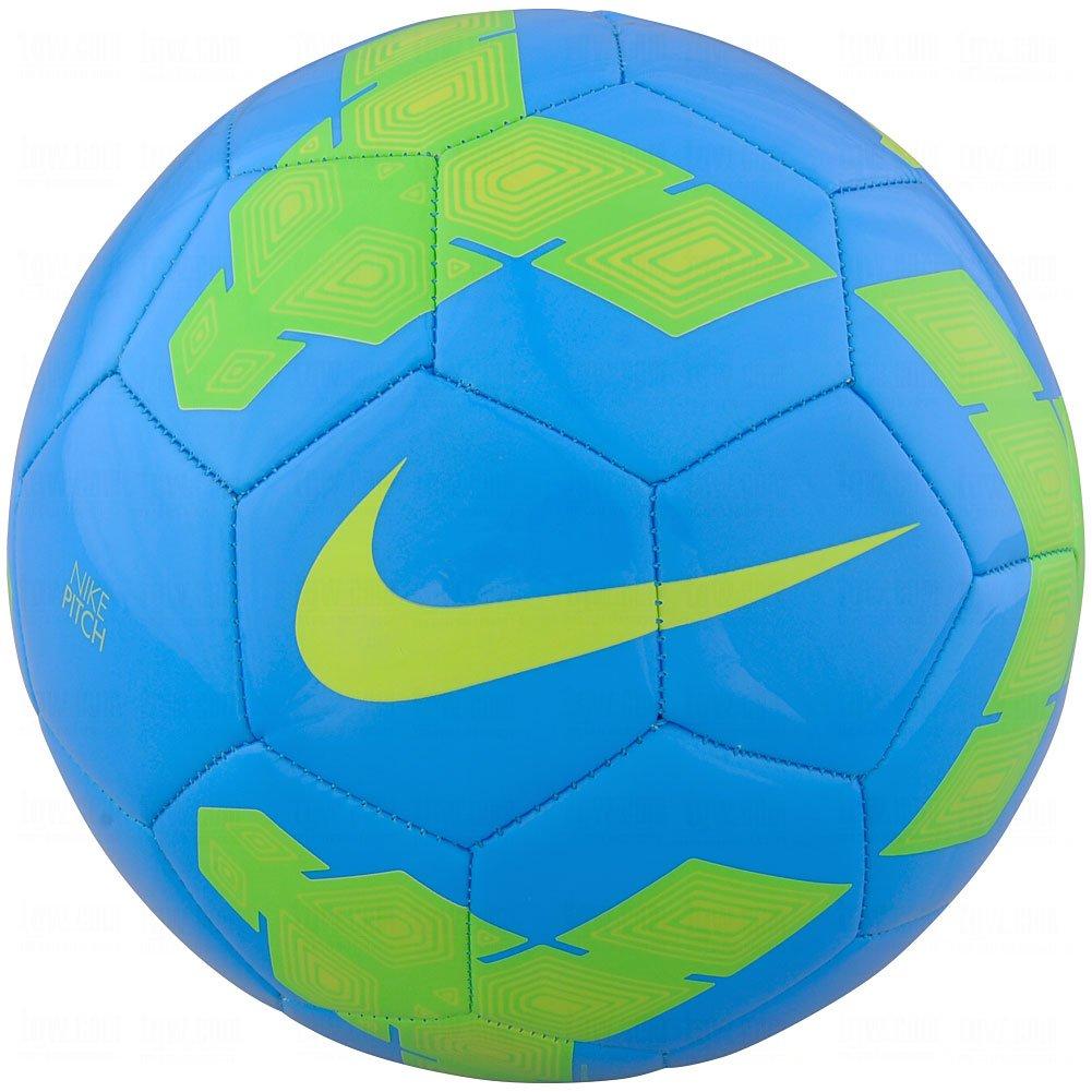 Nike Pitch - Balón de fútbol tamaño 5 Azul/Verde eléctrico: Amazon ...
