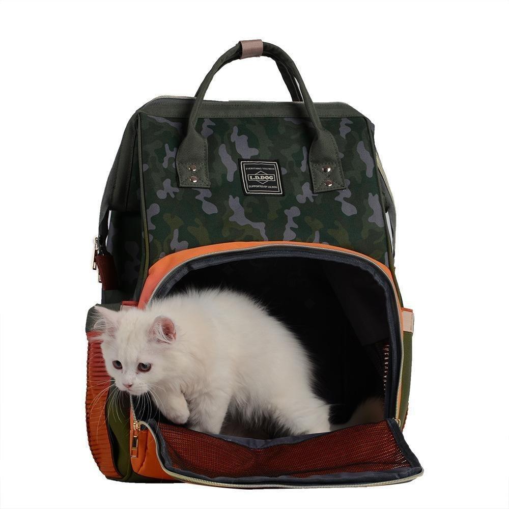 Dixinla Zaino per animali domestici domestici domestici Gabbia gatto del panno di Oxford doppia spalla traspirante pieghevole portatile cane sacchetto, 30  20  42cm 0ac0f2