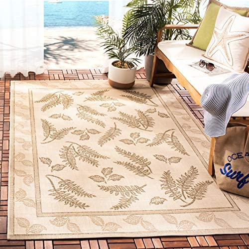 Safavieh Courtyard Collection CY0772-3001 Natural and Brown Indoor Outdoor Area Rug 8 x 11