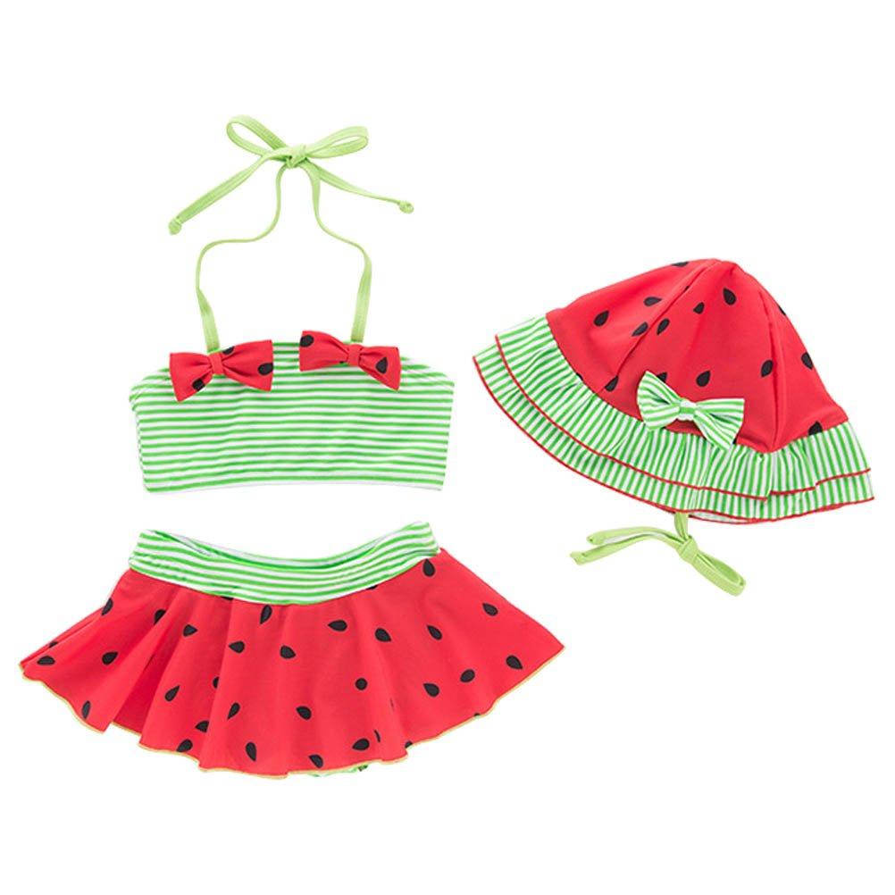 ARAUS Swimwear Baby Girl Swimsuit Bikini Set Beachwear Bathing Suit Swimming Costumes Outfits 3 Pieces