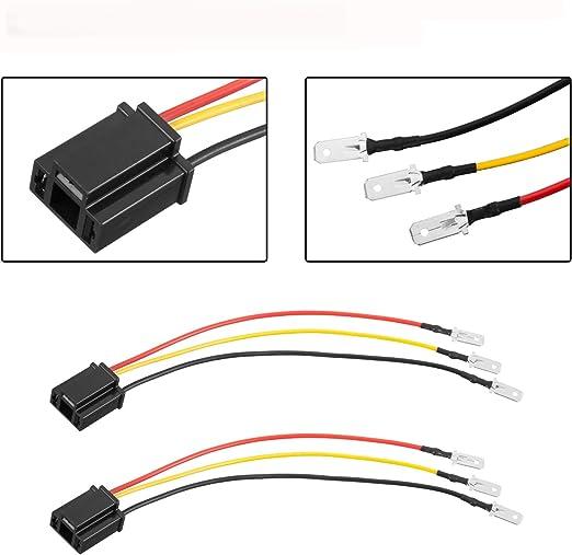 9003 Qii lu 2Pcs H4 HB2 Conector de cer/ámica Enchufe Socket Extensi/ón Arn/és de cableado Enchufes Adaptador