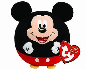 Ty - Bola de peluche con diseño de Mickey Mouse y sonido, 15 cm,