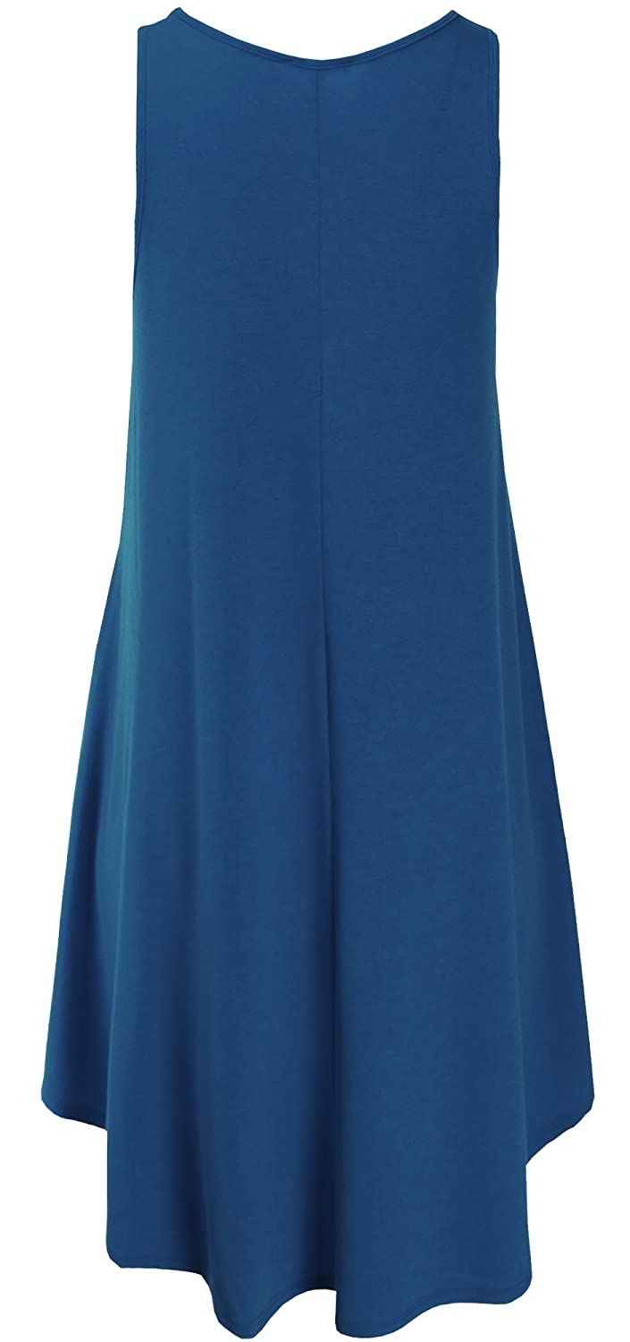 Ladies Code Womens Sleeveless Swing Dress with Side Pockets