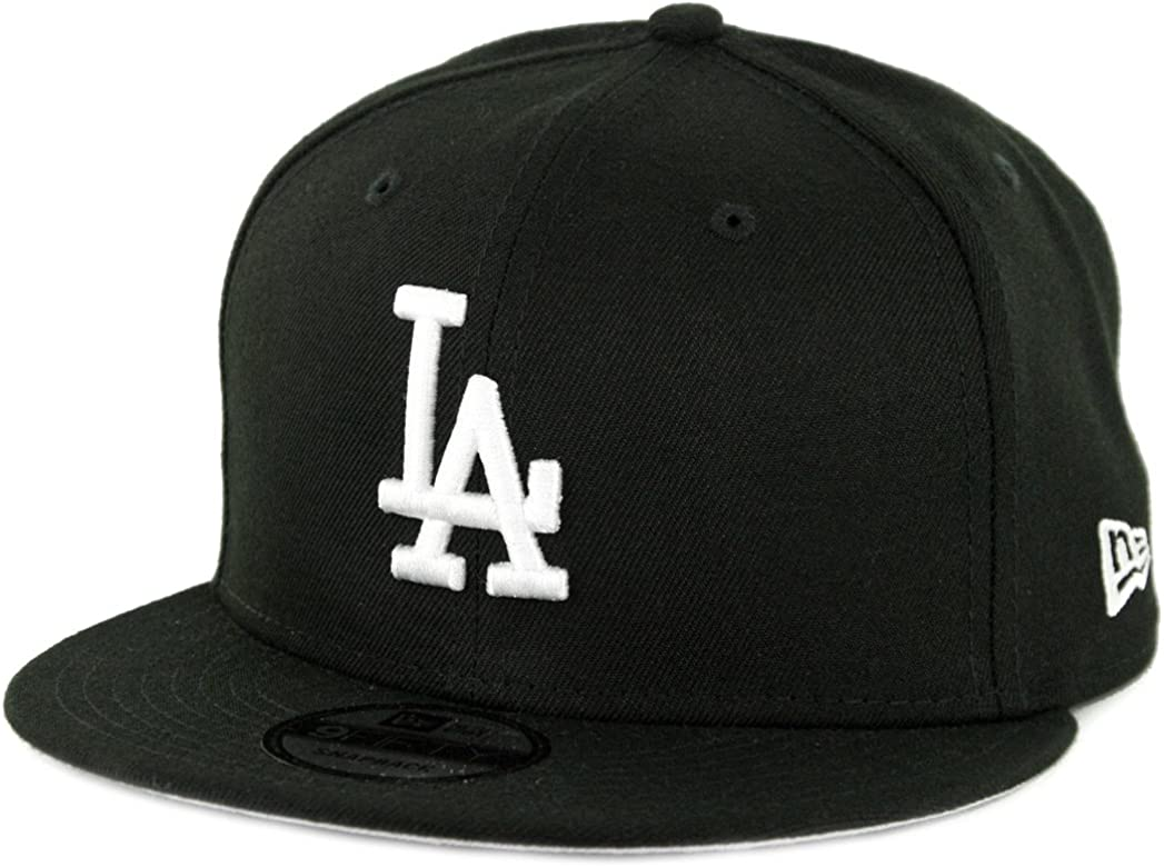 sports shoes 1ea7b 138a1 New Era 950 Los Angeles Dodgers Basic Snapback Hat (Black White) Men s Cap
