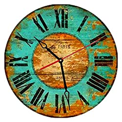 SofiClock 12 Vintage Wall Clock With Roman Numerals, Best Wooden Decor