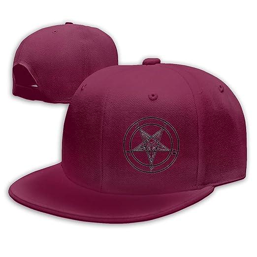 36ba78bc7 VISIONAA Goat Satan Pentagram Dark Red Baseball Hats Unisex ...