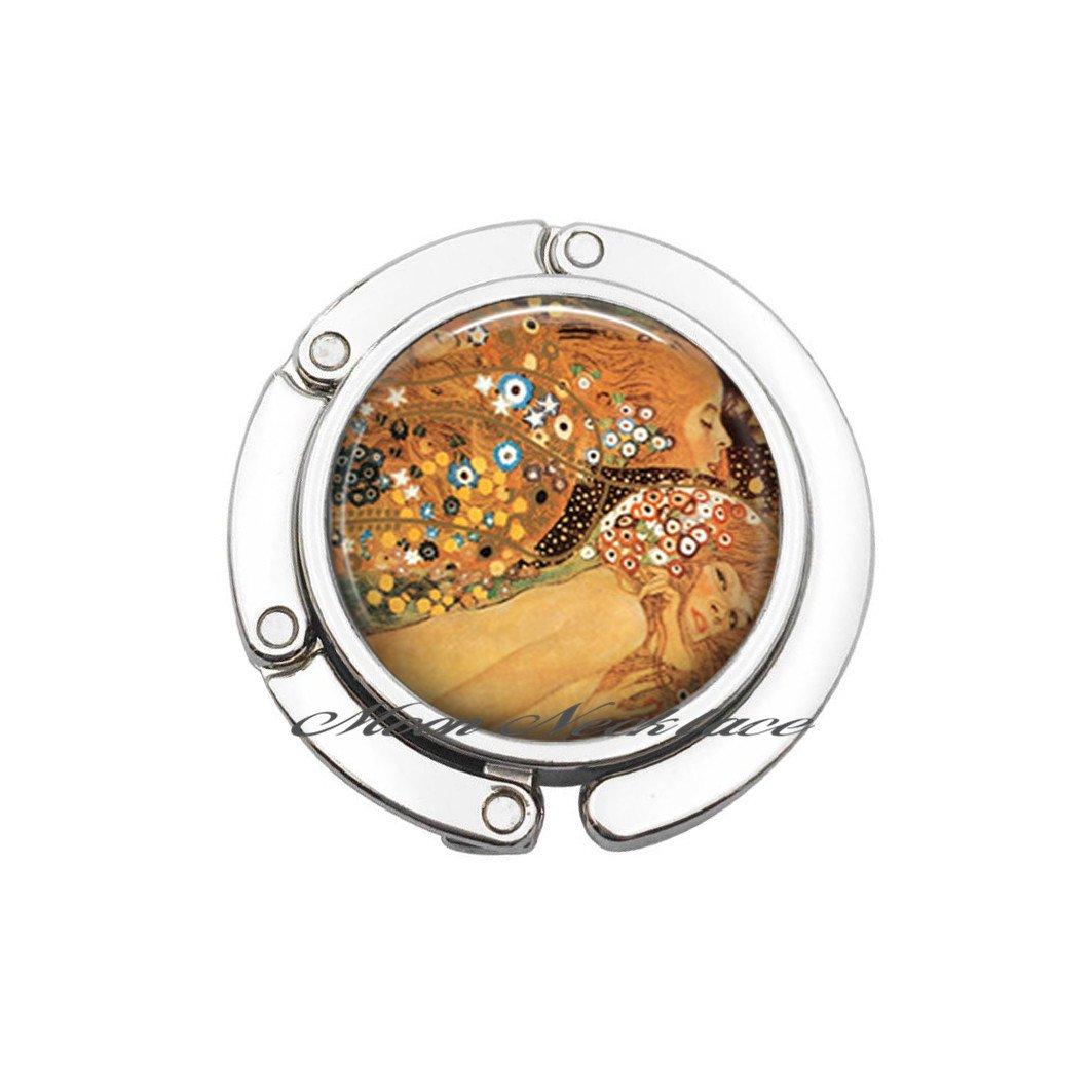 art Bag Hook Charm Purse Hook Water Serpents Purse Hook art Purse Hook art jewelry Purse Hook,photo Bag Hook-ZE028
