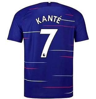 2e22a02611c terfgrt Chelsea Kante # 7 Soccer Jersey 2018-2019 Home Mens Jersey Blue(S