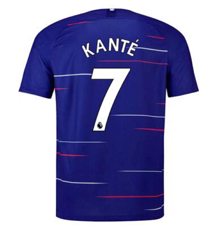 timeless design 8ef32 d880c terfgrt Chelsea Kante # 7 Soccer Jersey 2018-2019 Home Mens Jersey  Blue(S-XXL)