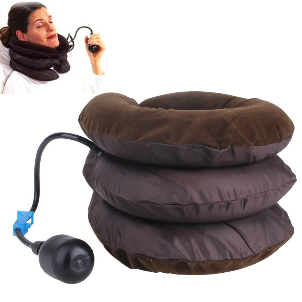 RemedyHealth Inflatable Cervical Air Neck Traction Collar Device - For Shoulder Pain, Pinched Nerve and More