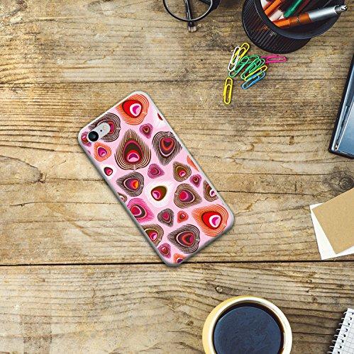 iPhone 8 Hülle, WoowCase Handyhülle Silikon für [ iPhone 8 ] Pfaufeder Handytasche Handy Cover Case Schutzhülle Flexible TPU - Transparent