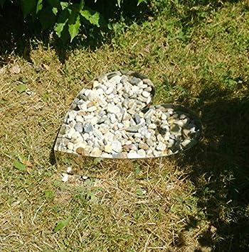 Tuneon Herz Edelstahl Garten Friedhof Beeteinfassung Blech ...