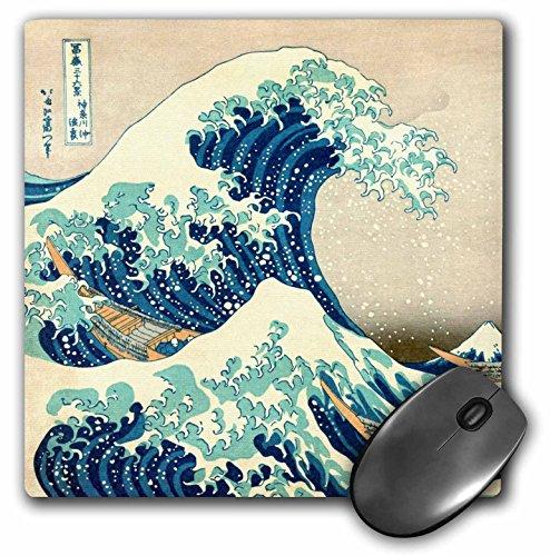 3dRose 8 x 8 x 0.25 Inches The Great Wave Off Kanagawa by Japanese Artist Hokusai Dramatic Blue Sea Ocean Ukiyo-e Print 1830 Mouse Pad (mp_155631_1)
