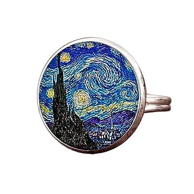 24 Joyas Bague Réglable La Nuit étoilée De Van Gogh Cadeau