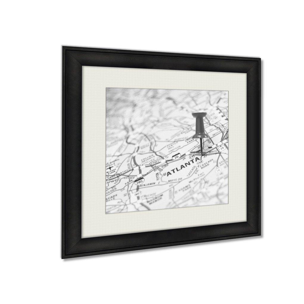Ashley Framed Prints Atlanta Us, Wall Art Home Decor, Black/White, 34x34 (frame size), AG5640232