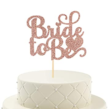 Rose Gold Candle Happy Birthday Party Long Cake Topper Engaged Wedding