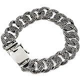 925 Sterling Silver Lizard Skin Men Link Bracelet - Made in Thailand – 7.25