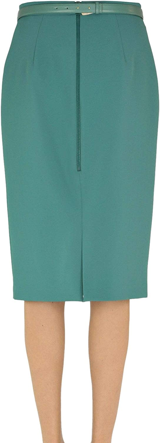 Elisabetta Franchi Luxury Fashion Womens MCGLGNN0000B7006E Green Skirt | Season Outlet 618BuTkPXXLUL1500_