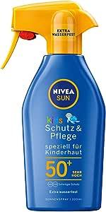 Nivea Sun Zonnespray met verbeterde formule voor kinderen, beschermingsfactor 50+, 300 ml spuitfles, kinderbescherming en verzorging